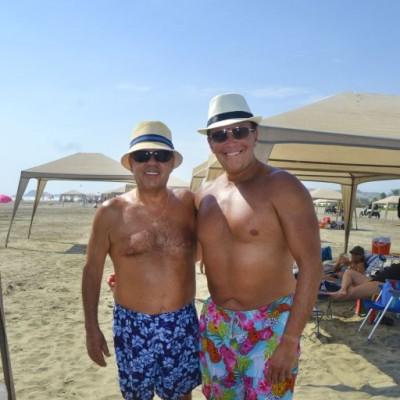 Freddy Nossar y Jhonny Brignardello en Playa Blanca.