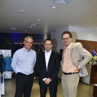 Gerhard Gallardo, Ricardo Bravo y Heribert Gruber.