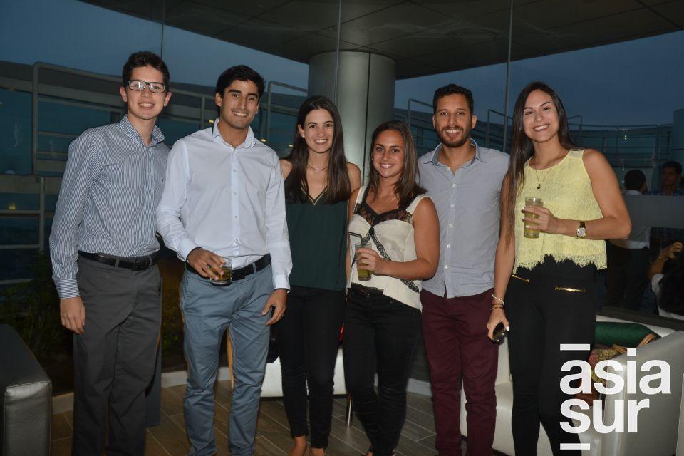 Gianpier Marky, Gonzalo Arbulu, Carolina Valle, Camila Mariani, Aldo Parodi y Alessandra Zavala.