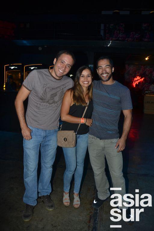 Jorge Miranda, Andrea León e Ivan Chaparro.