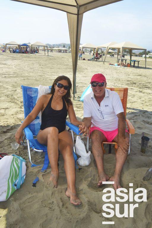 Kitty y Felipe Ascenzo en Playa Blanca.