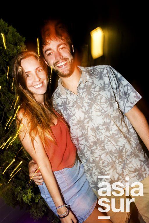 Krizia Trabucco y Stefan Behar en el After Office de la marca Keralia y Kiya en el Sonesta.