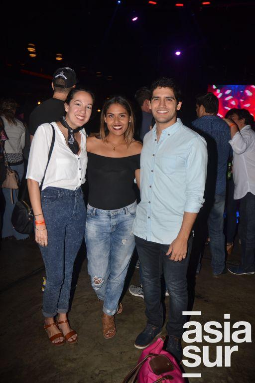 Lucia Ruiz, Mellisa Reyes y Sebastian Drago.