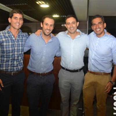 Luis Marcelo Indacochea, Martín Bedoya, Jorge Ruiz y Ricardo Cortez.