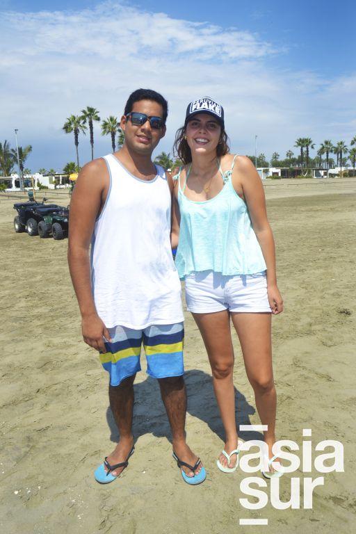 Manuel Seminario y Daniela Ugarte en Cayma.