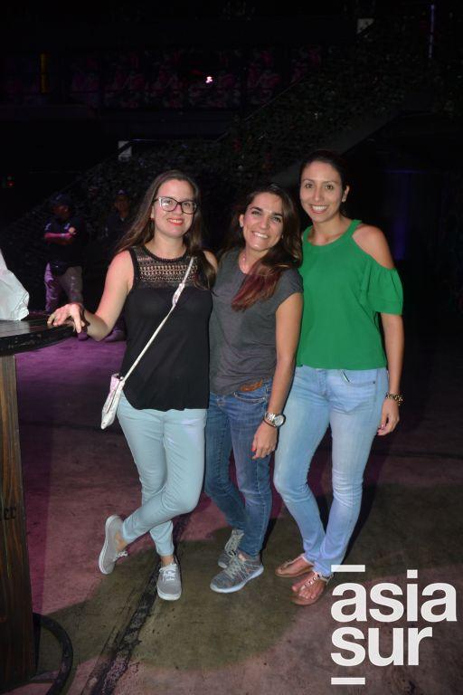 Maria Fe Plaza, Cotty Arens y Carla Miranda.