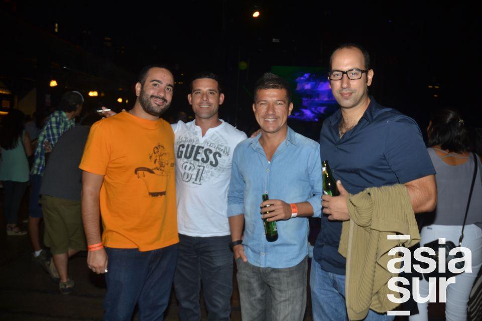 Mariano Grimaldi, Yamil Adum, Tony Milla y Jorge Delgado.
