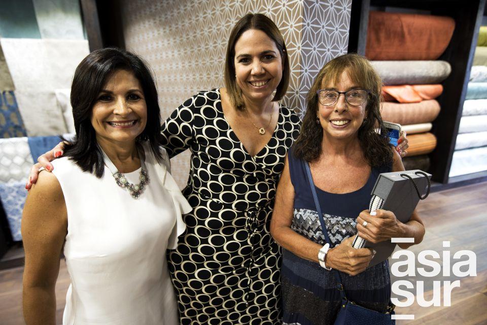 Mirka Saposnik, Erika Torres Abugattas y Carmen Rebagliati.