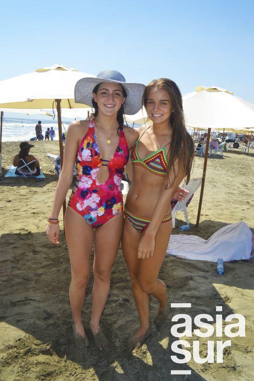 Natalia Bustamante y Camille Barclay en Palmas.