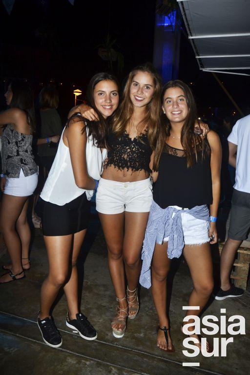 Paulina Barrios, Alexia Rosas e Isabella Drago.