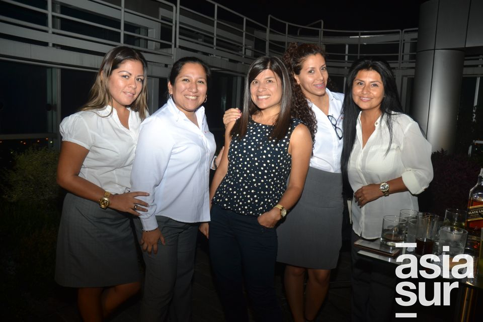 Pilar Espinoza, Adriana Andia, Virginia Díaz, Joana García y Janet Tapia.
