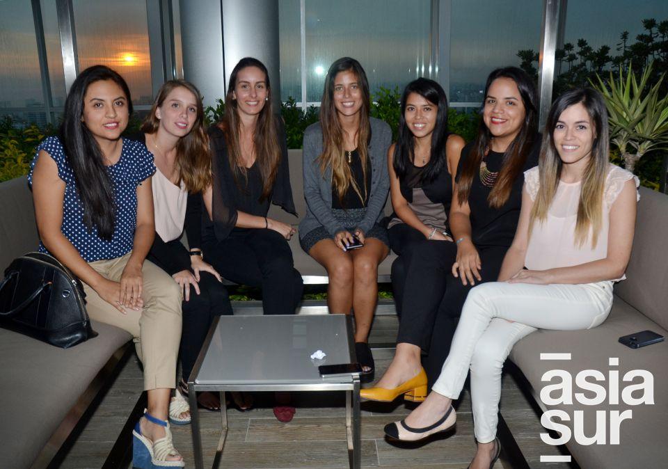 Roxana Peña, Veralucia Barreda, Diana Puga, Ximena Zevallos, Maria Alejandra Ruiz, Ximena Valencia y Andrea Lequerica.