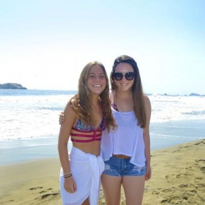 Sophie Grobman y Noa Shavit en Playa del Golf.
