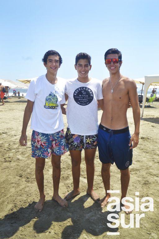 Stefano Ursini, Alejandro Flores y Nicolas Valdivia en Palmas.