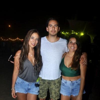 Valery Sanchez, Cesar Carrasco y Maria Paz Guerrero.