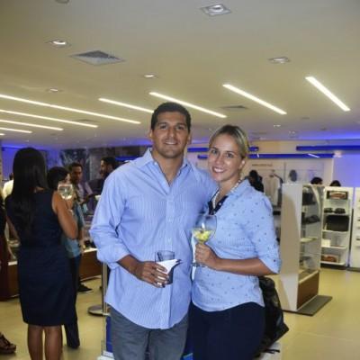 Virgilio Carranza y Pamela Roman.