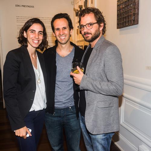 Gabriela Velarde, Mateo Bedoya y Vicente Lopez de Romaña
