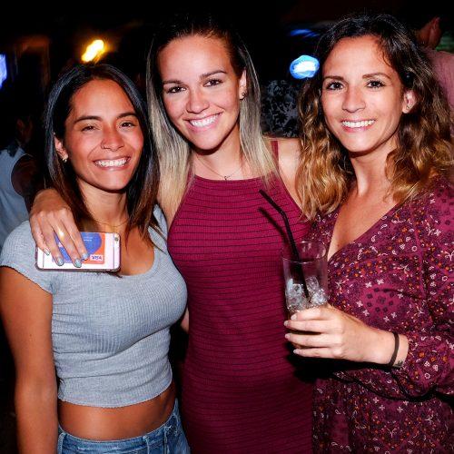 Mauri Sifuentes, Pierina Villamonte y Andrea Allen en Fiesta Bulbo
