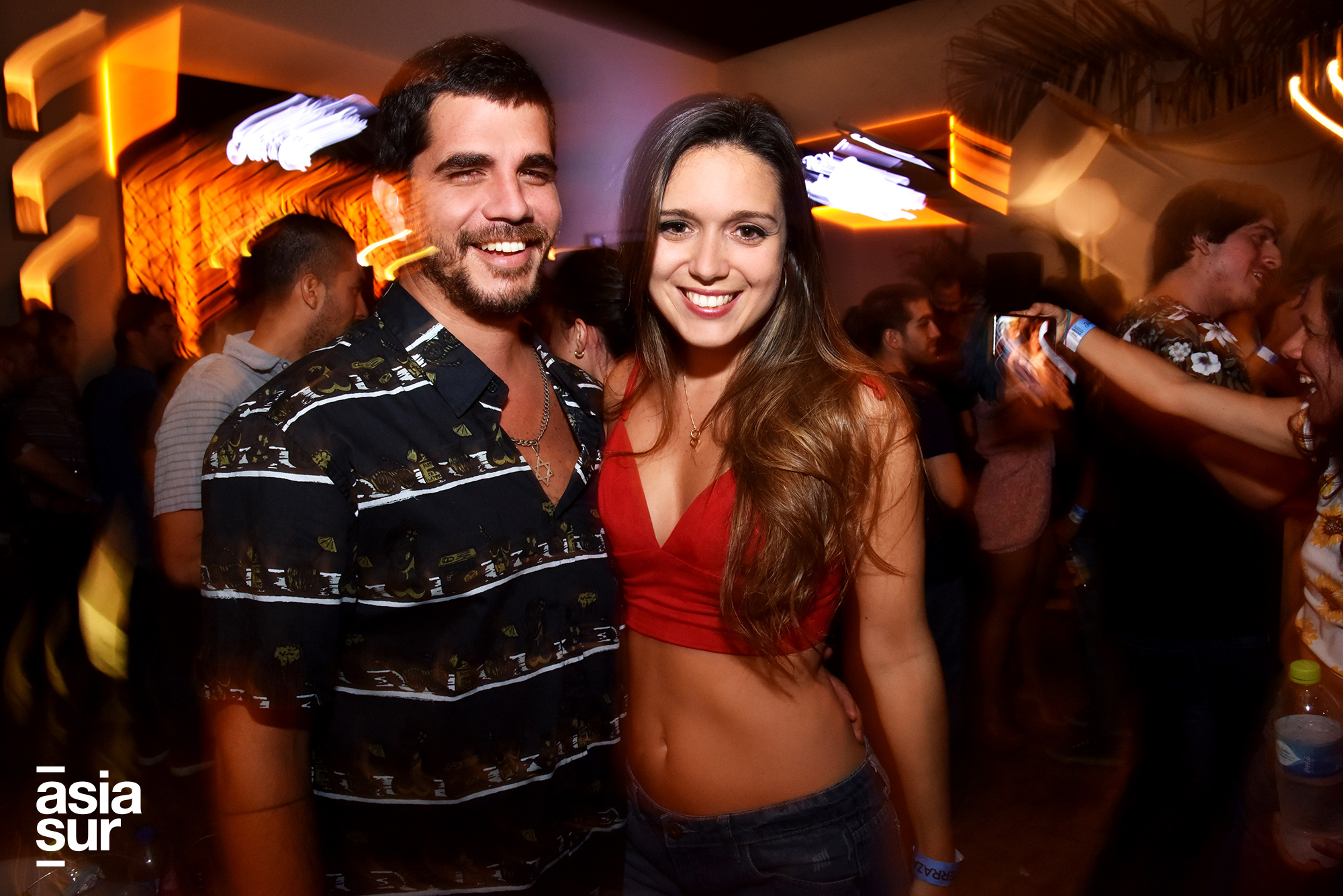 Raúl Caller y Daniela Casalino en discoteca IN de Punta Hermosa